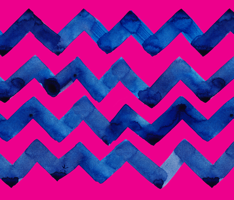 cestlaviv_navypinkzagnew fabric by cest_la_viv on Spoonflower - custom fabric