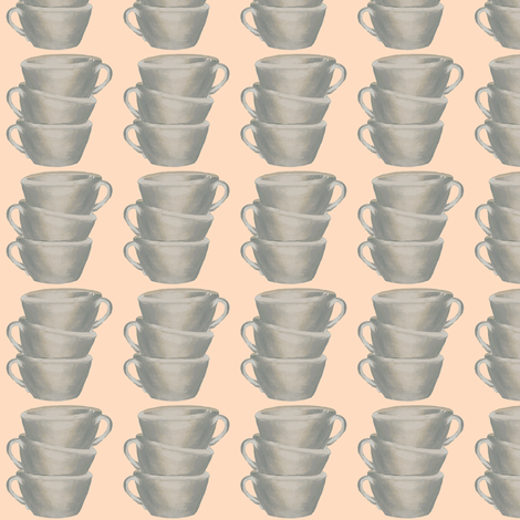 Cups, cups, cups on peachy keen fabric by karenharveycox on Spoonflower - custom fabric