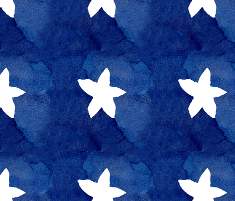 cestlaviv_white STAR large1new fabric by cest_la_viv on Spoonflower - custom fabric