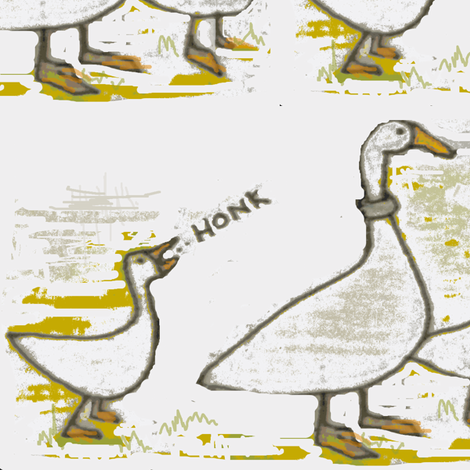 Honk fabric by boris_thumbkin on Spoonflower - custom fabric