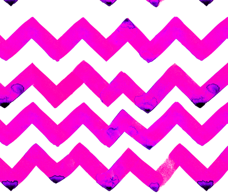 cestlaviv_NEWzigzagz SALLY PINK fabric by cest_la_viv on Spoonflower - custom fabric