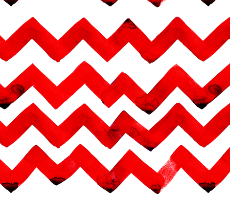 cestlaviv_NEWzigzagz RED fabric by cest_la_viv on Spoonflower - custom fabric