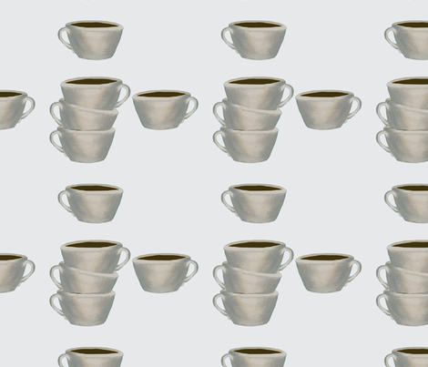 Cups of Jo, gray fabric by karenharveycox on Spoonflower - custom fabric