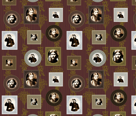 Rasputin frames fabric by pkfridley on Spoonflower - custom fabric