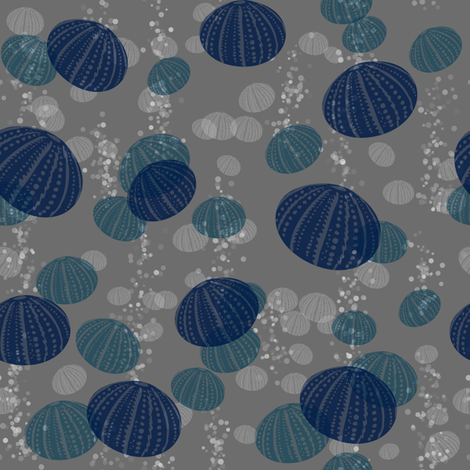 Blue urchin fabric by francine on Spoonflower - custom fabric