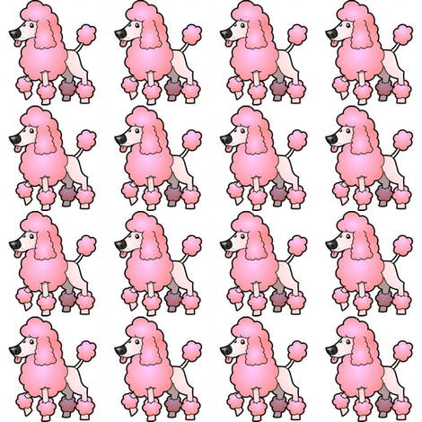POODLE fabric by bluevelvet on Spoonflower - custom fabric