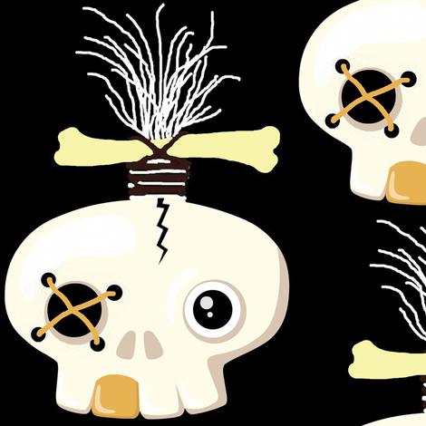 zombie skull 1 fabric by paragonstudios on Spoonflower - custom fabric