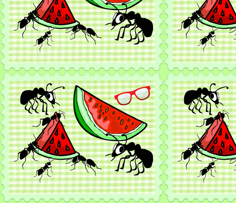 ANTS PICNIC fabric by bluevelvet on Spoonflower - custom fabric
