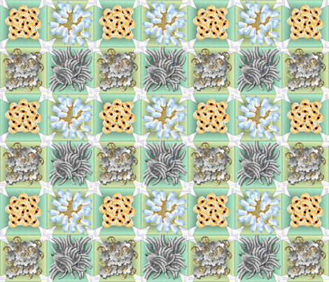 Spare Parts Cheater Quilt Center fabric by glimmericks on Spoonflower - custom fabric