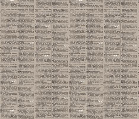 dictionary birds fabric by katarina on Spoonflower - custom fabric
