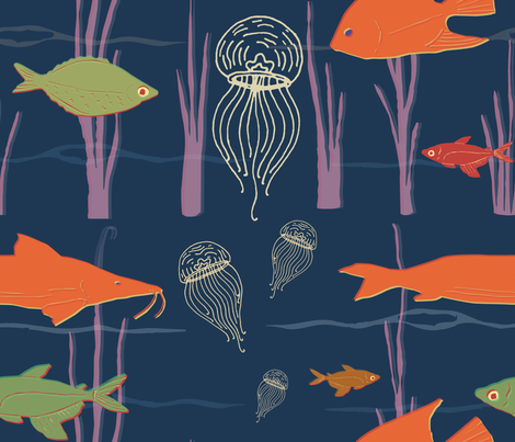 Underwater fabric by the_collectionist on Spoonflower - custom fabric