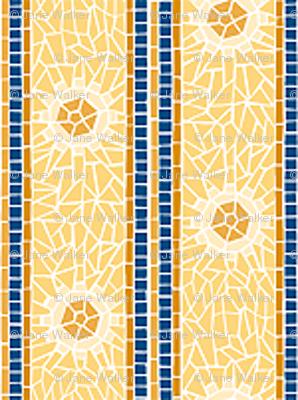 "Mosaic Starburst Stripe -- 1""  ©2012 by Jane Walker"