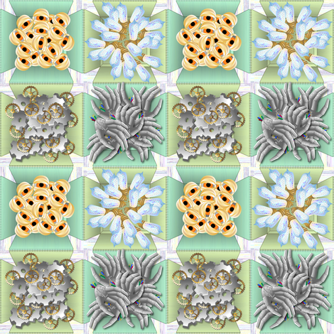 Spare Parts 2x2 fabric by glimmericks on Spoonflower - custom fabric