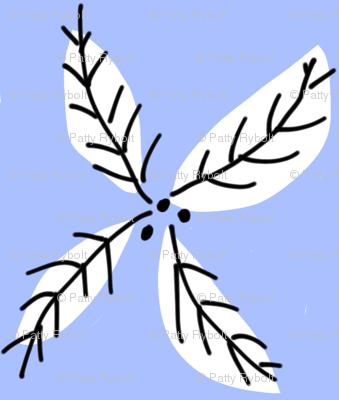 leaf flower blue