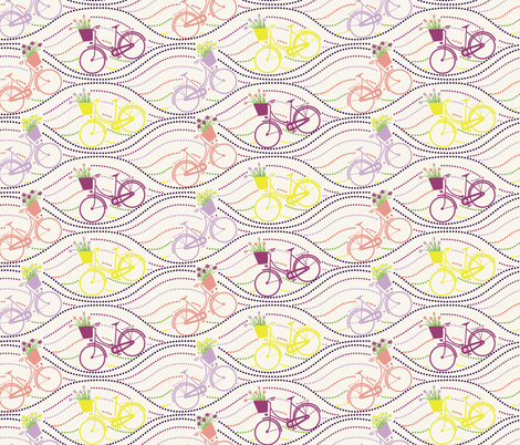 bikes up & down_multi fabric by natasha_k_ on Spoonflower - custom fabric