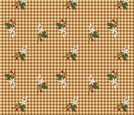 Coffee Houndstooth 01 fabric by mysteek on Spoonflower - custom fabric