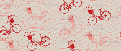 bikes up & down_RED&PEACH