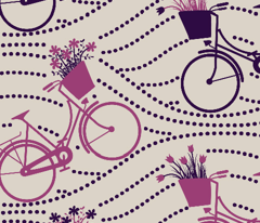 bikes up & down_PURPLE&PINK