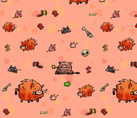 boars fabric by sewdeadly on Spoonflower - custom fabric