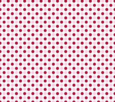 white wallpaper pink polka dots