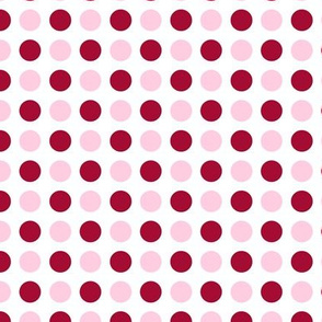 Pink and Red Polka Dots