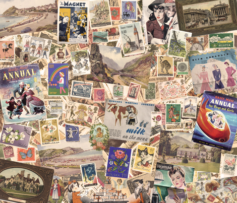 Old stamps, postcards & magazines