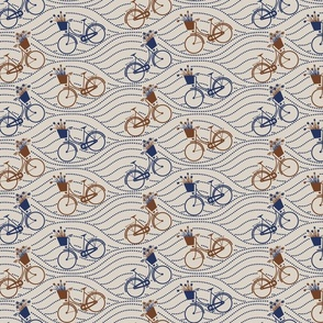 bikes up & down_brown&navy