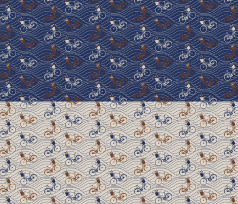 2in1YardBIKESblue fabric by natasha_k_ on Spoonflower - custom fabric