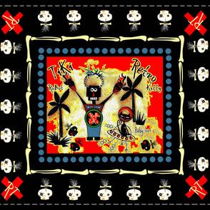 RT / zombie skulls quilt
