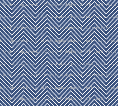 Chevron Chic - Mini - Mid Blue