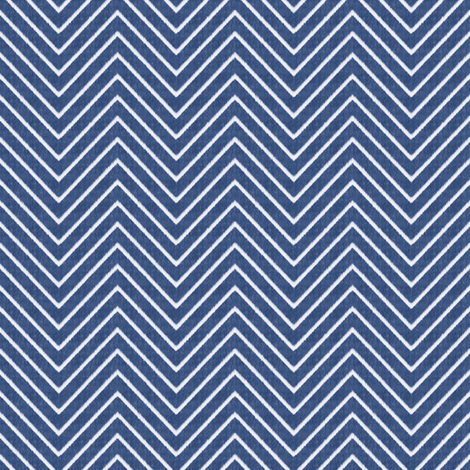 Chevron Chic - Mini - Mid Blue fabric by kristopherk on Spoonflower - custom fabric