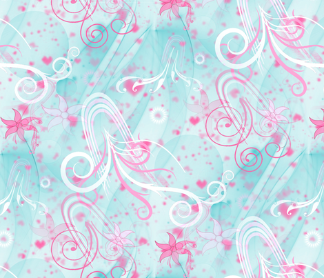 Love & Jellyfish fabric by farrellart on Spoonflower - custom fabric