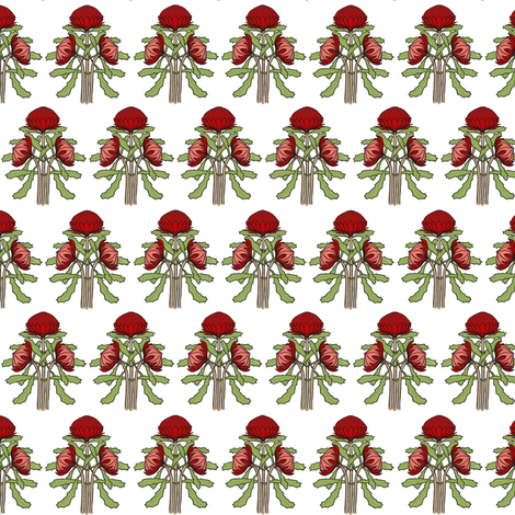 Darker smaller waratahs plain fabric by su_g on Spoonflower - custom fabric
