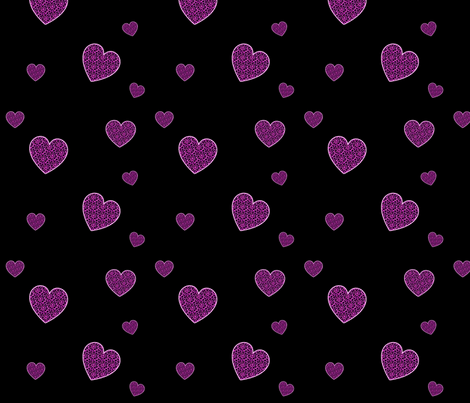 PinkLeopardHearts fabric by eerie_doll on Spoonflower - custom fabric