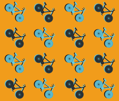 Retro Bicycles fabric by willow_and_elm on Spoonflower - custom fabric