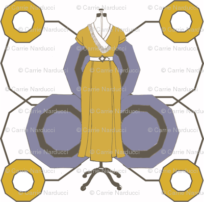 Yellow deco dress