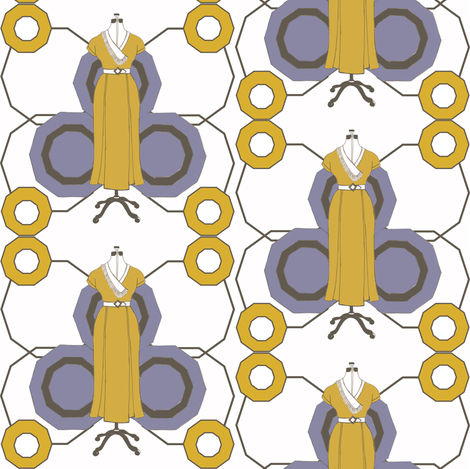 Yellow deco dress fabric by cnarducci on Spoonflower - custom fabric