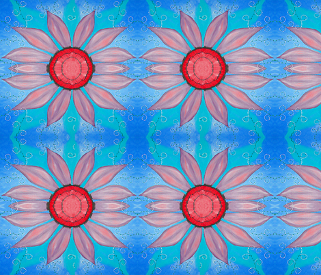 pink flower fabric by krs_expressions on Spoonflower - custom fabric
