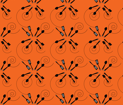 kid_s-apron-orange fabric by hartlinedesigns on Spoonflower - custom fabric