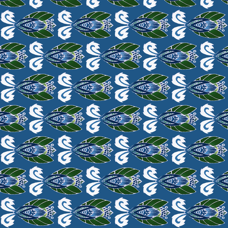 beetlish blue fabric by atomic_bloom on Spoonflower - custom fabric