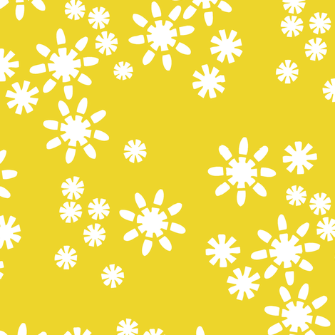 Cut Flowers Yellow fabric by alicia_vance on Spoonflower - custom fabric