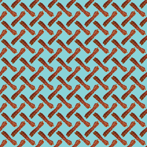 BACON! Light Blue fabric by seidabacon on Spoonflower - custom fabric