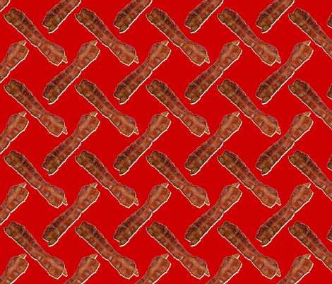 BACON! Red fabric by seidabacon on Spoonflower - custom fabric