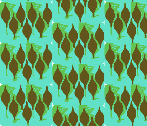 Tops - sea green, chocolate fabric by bettinablue_designs on Spoonflower - custom fabric