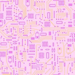 Pink Circuit - Large