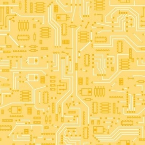 Yellow Circuit - Large