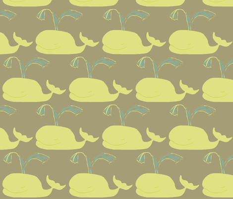 Whales - tauple fabric by bettinablue_designs on Spoonflower - custom fabric