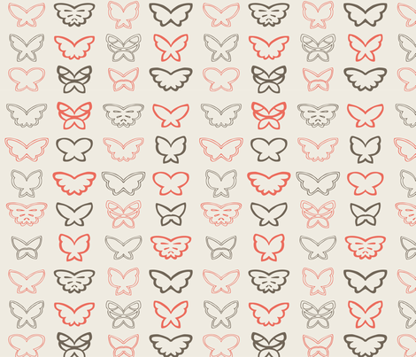 Tangled Butterflies II - Geometric fabric by noaleco on Spoonflower - custom fabric