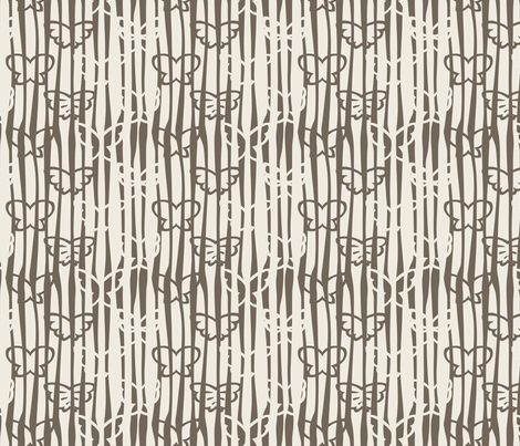Tangled Butterflies II - Organic Lines fabric by noaleco on Spoonflower - custom fabric