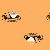 cargo bike with coffee on chai